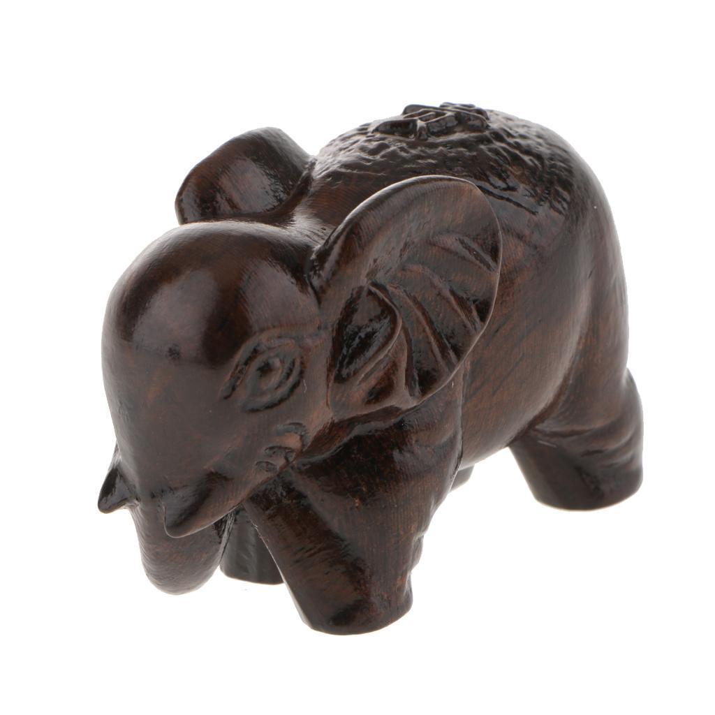 miniatura 20 - Statua Buddista Figurina Artigianale Ornamenti Supporto Tavolo Legno