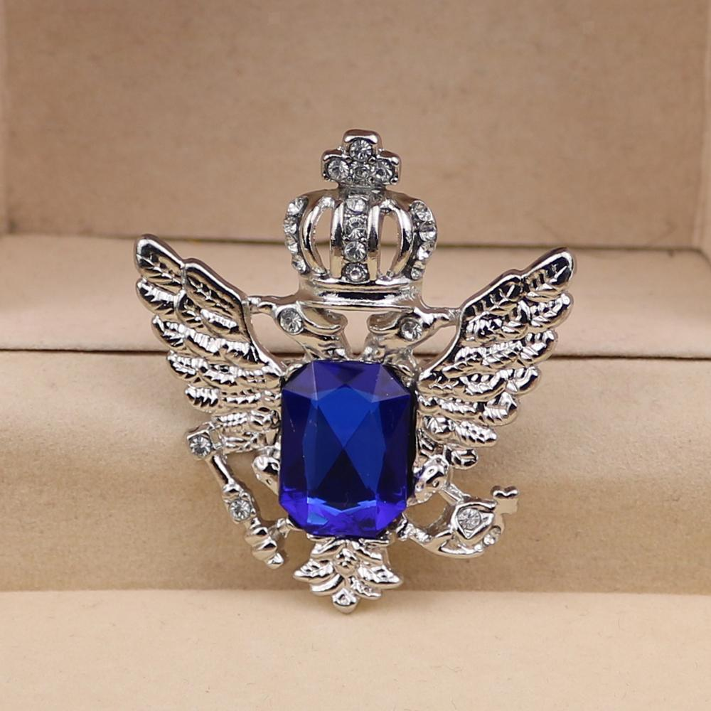 Unisex-Men-Vintage-Crystal-Crown-Eagle-Brooch-Pins-Suit-Breastpin-Collar-Pin thumbnail 4
