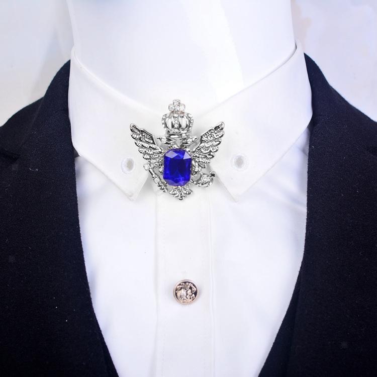 Unisex-Men-Vintage-Crystal-Crown-Eagle-Brooch-Pins-Suit-Breastpin-Collar-Pin thumbnail 3