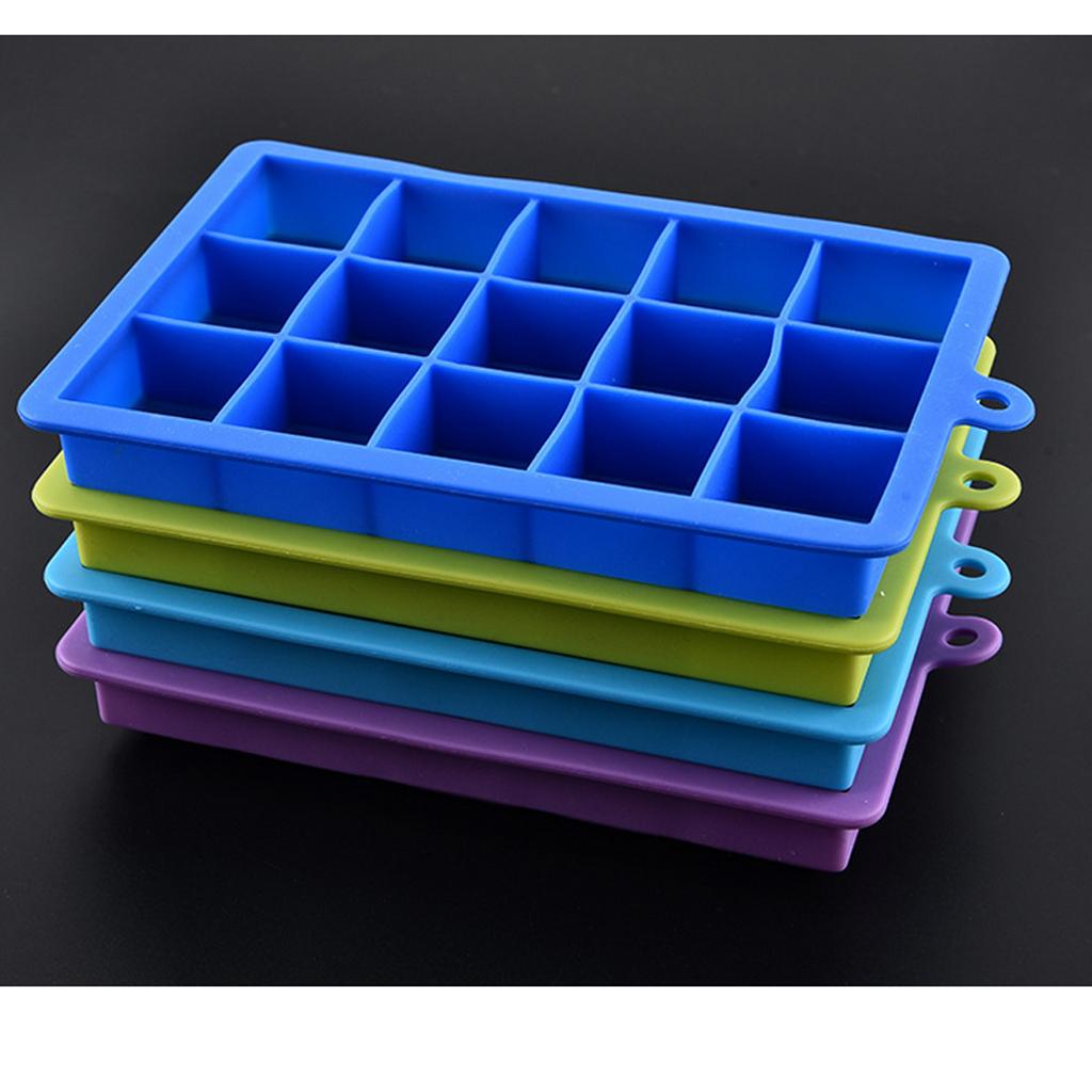 4-Couleurs-Silicone-Ice-Cube-Tray-Mold-Bar-Ice-Cube-Chocolate-Mold-Moule-Plateau miniature 6