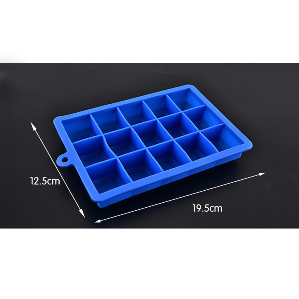 4-Couleurs-Silicone-Ice-Cube-Tray-Mold-Bar-Ice-Cube-Chocolate-Mold-Moule-Plateau miniature 7