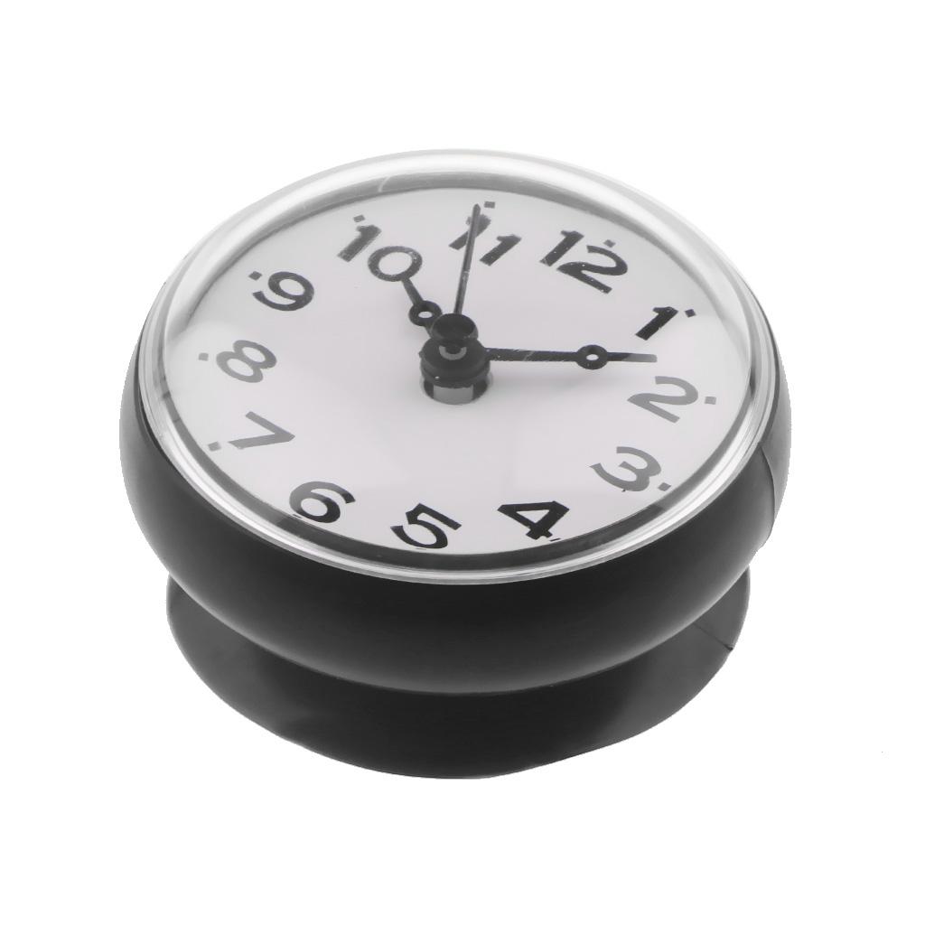 Portable Bathroom Shower Clock Water Resistant Wall Clock Decor Clock White