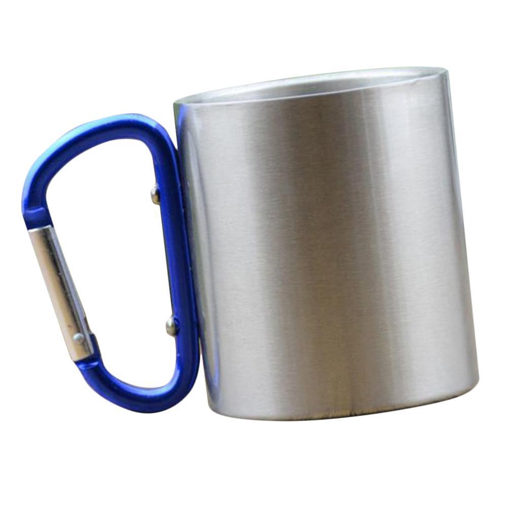 miniatura 4 - 3pz Tazze in Lega di Alluminio da Moschettone Campanellino da Viaggio per