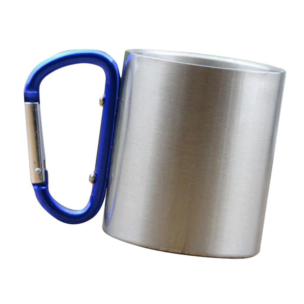 miniatura 5 - 3pz Tazze in Lega di Alluminio da Moschettone Campanellino da Viaggio per