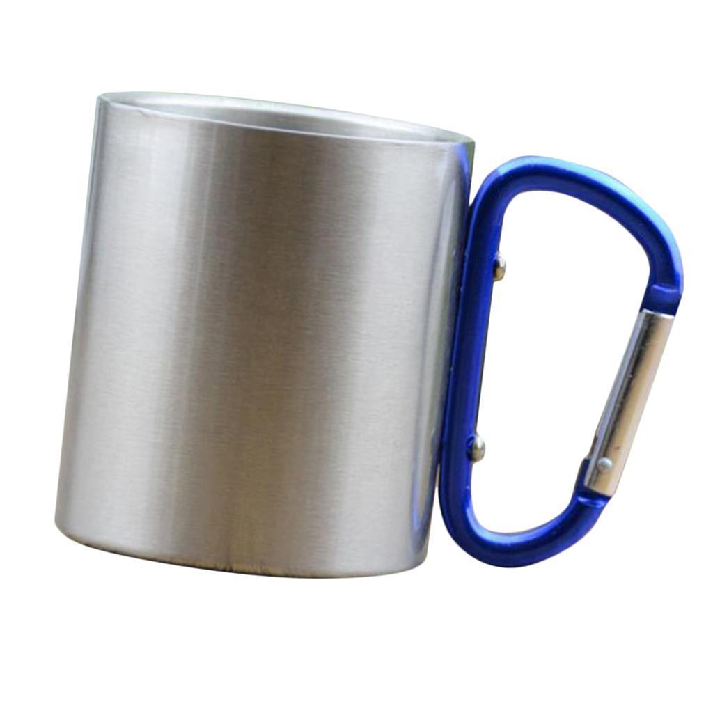 miniatura 6 - 3pz Tazze in Lega di Alluminio da Moschettone Campanellino da Viaggio per