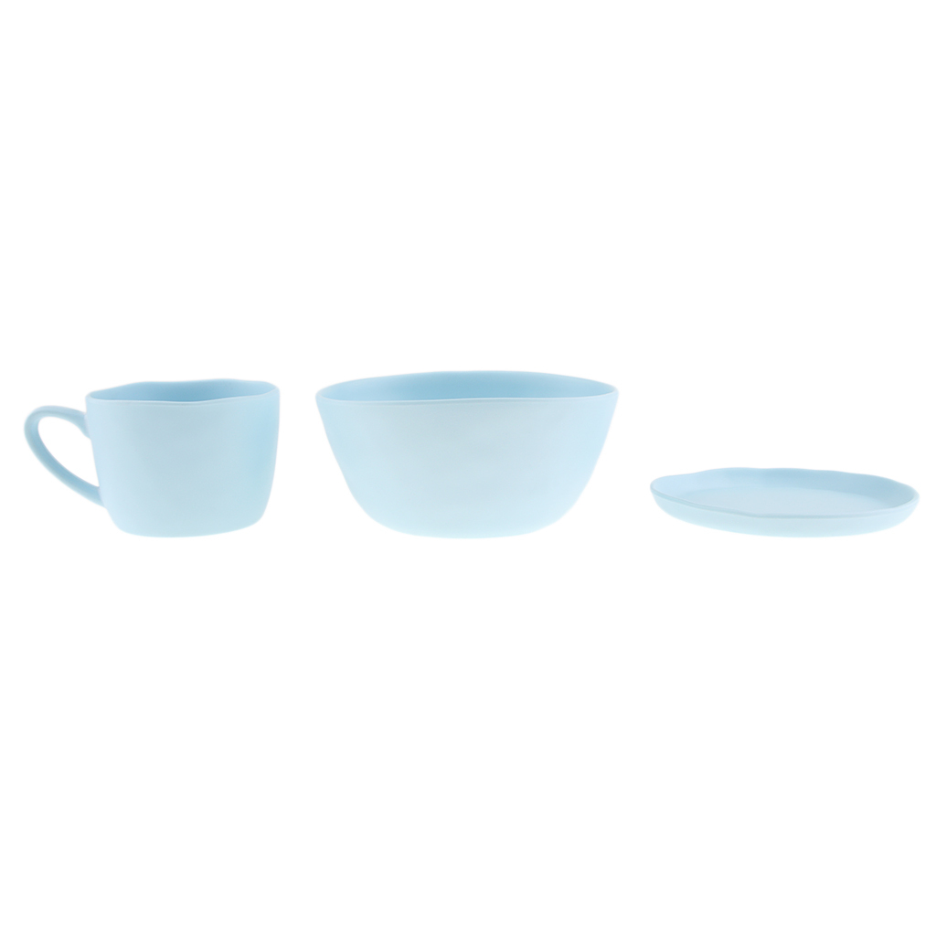 Dinnerware-Set-of-3-Service-Cup-Coffee-Mug-Salad-Bowl-with-Saucer-Plate thumbnail 6