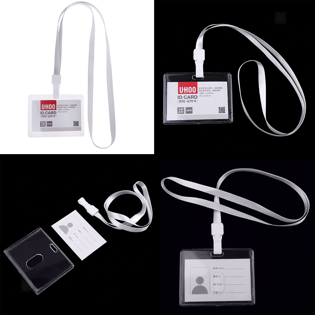 Lanyard-Neck-Strap-ID-Pass-Card-Badge-Holder-for-School-Students-Company thumbnail 13