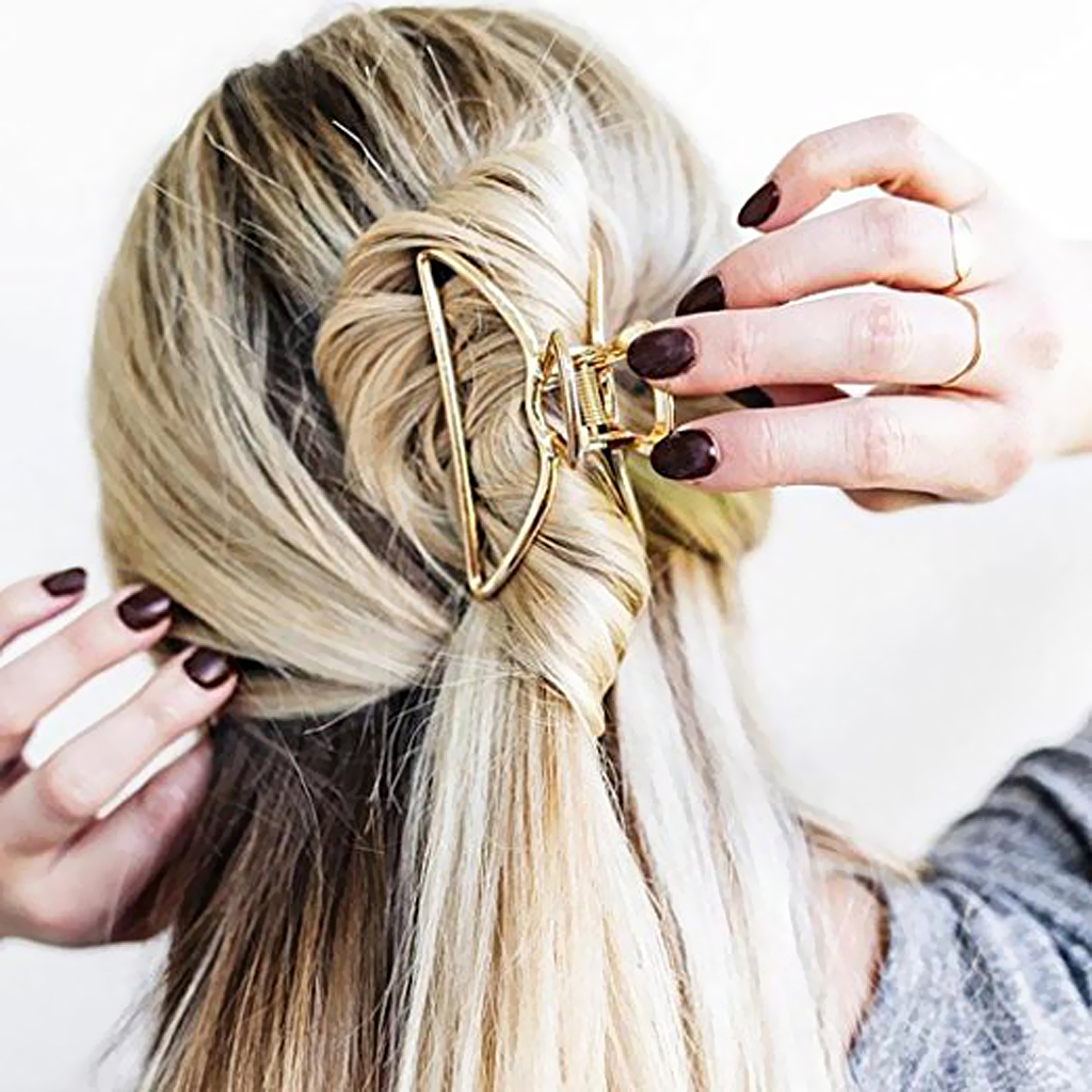 Vintage-Metal-Hair-Jaw-Clips-Rectangle-Arch-Hair-Clamp-Claws-Accessories-Women thumbnail 25