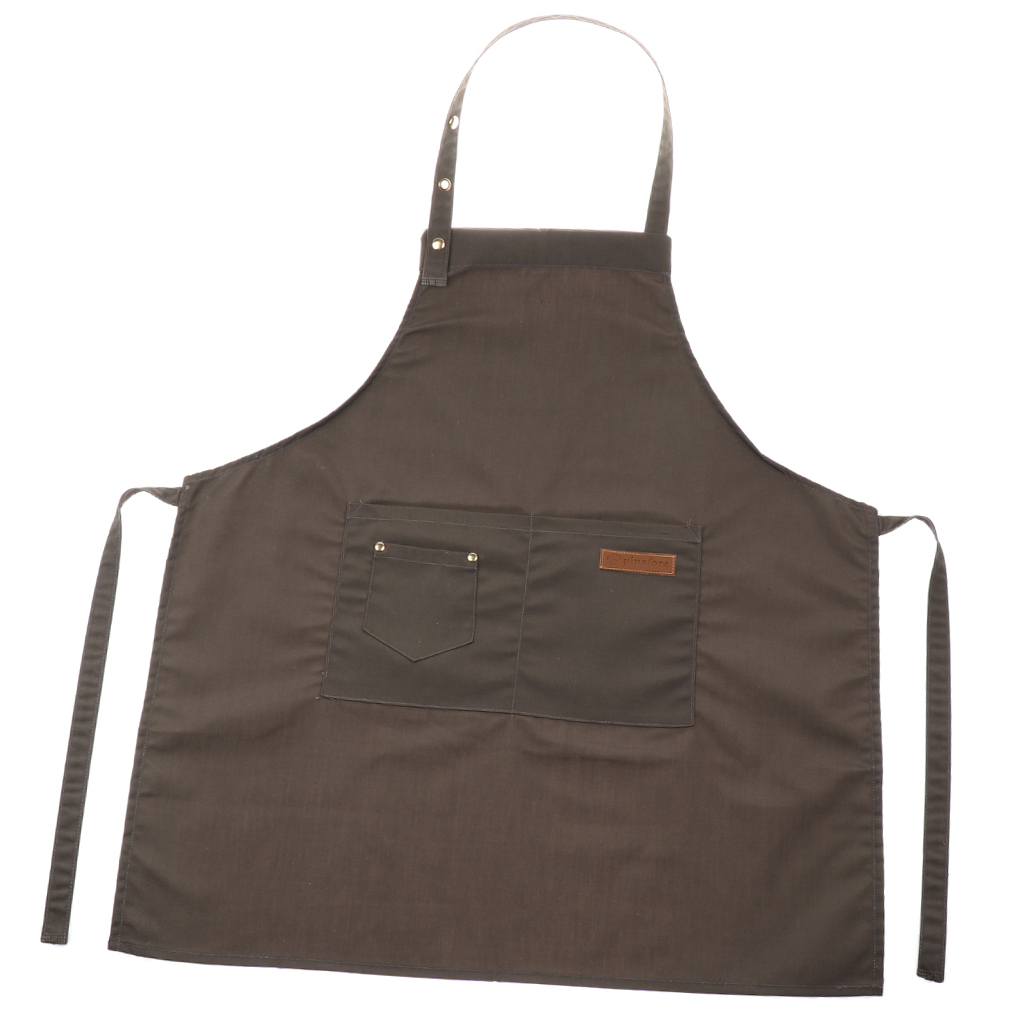 Adjustable-Bib-Apron-Dress-Kitchen-Restaurant-Chef-Classic-Cooking-Uniform thumbnail 7