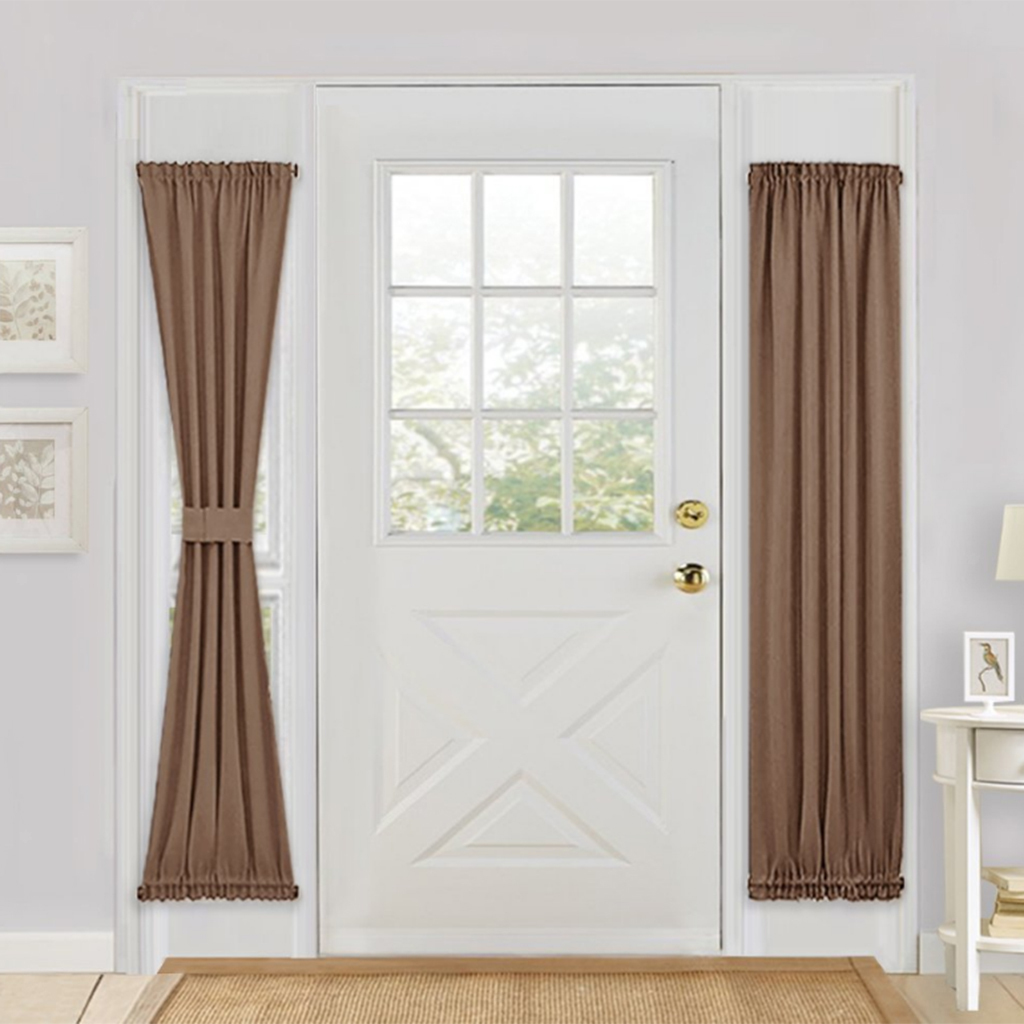 Solid-Color-Blackout-French-Door-Curtain-Panel-Rod-Pocket-Window-Treatment thumbnail 18