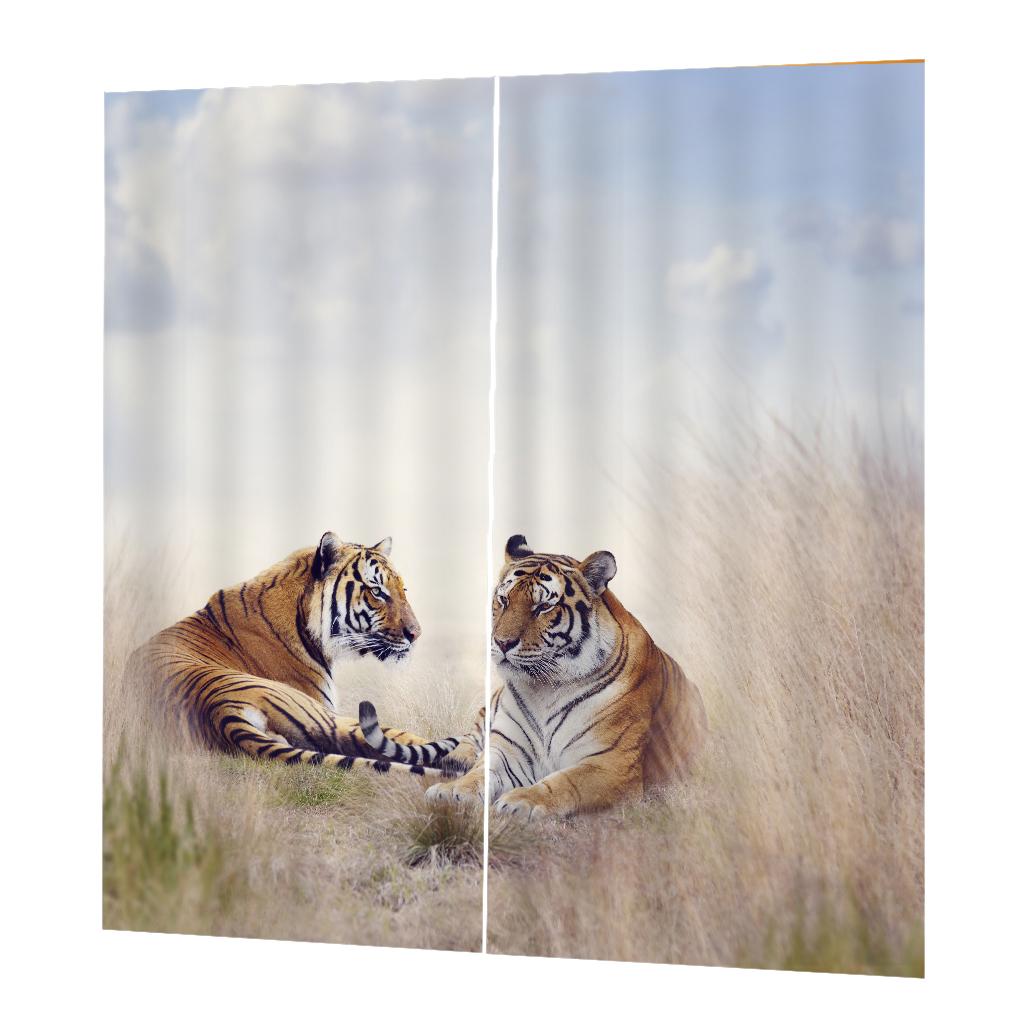 Homyl Rideau de Fen/être /à Isolation Thermique 3D D/écor Masion Chambre Cheval-75x166cm
