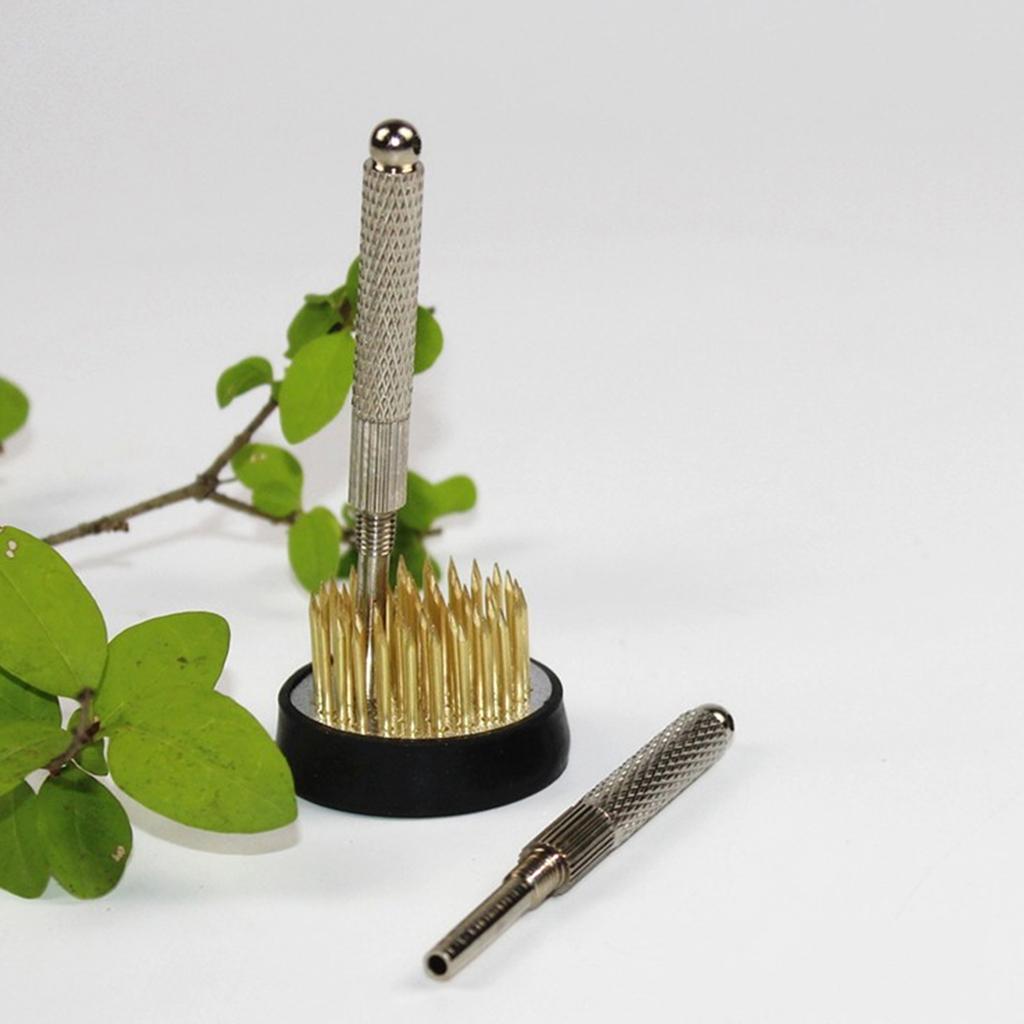 Japanese Ikebana Flower Arranging Frogs Cleaner Kenzan Straightening Tool