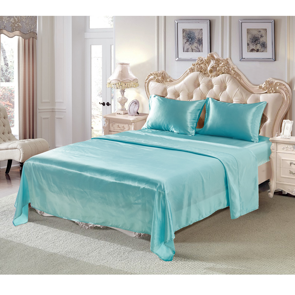 Comfort-Sheet-Set-Twin-Queen-King-Size-Bed-Flat-amp-Fitted-Sheet-amp-Pillowcases thumbnail 42