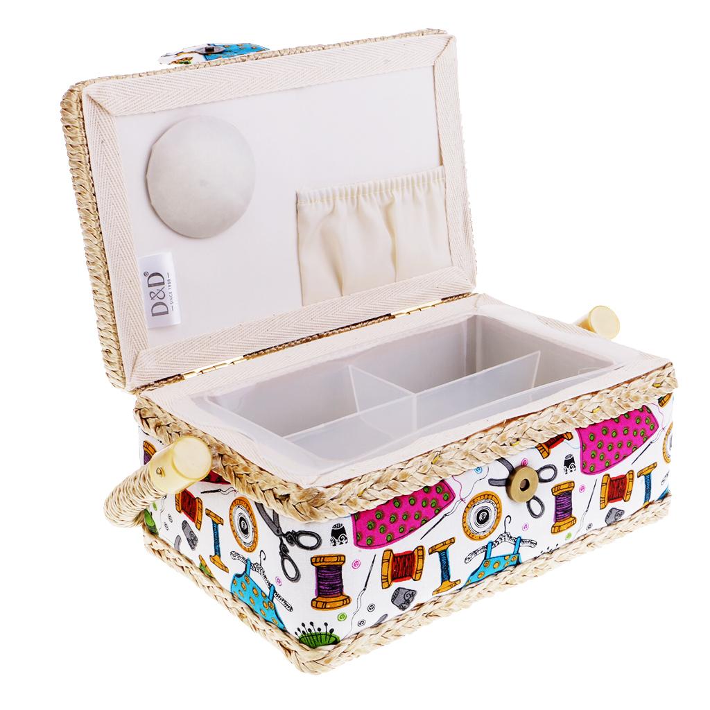 Cestini Da Lavoro Per Cucito dettagli su kit di cucito in plastica cestino forniture per cucire  organizer per aghi