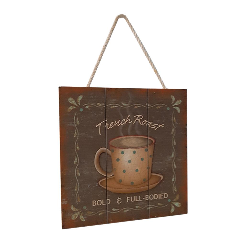 Targa-di-legno-del-segno-d-039-annata-per-la-decorazione-del-caffe miniatura 9