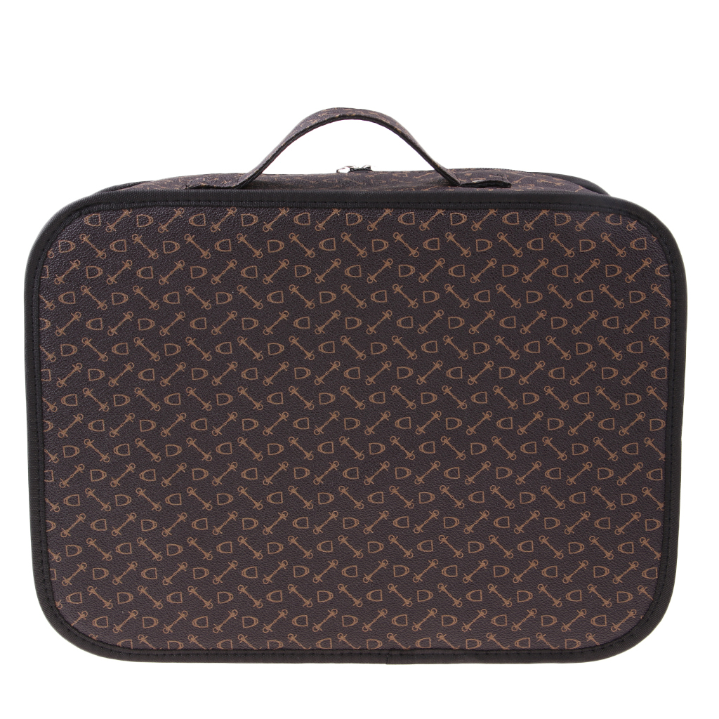 b38709bc9773 Details about Professional Leather Makeup Train Case Travel Cosmetic  Storage Organizer Bag