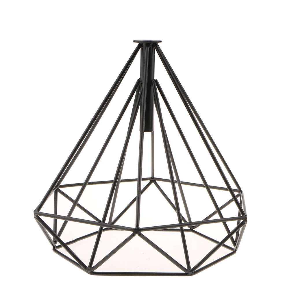 Modern-Geometric-Diamond-Caged-Ceiling-Pendant-Light-Shade-Easy-Fit-Lampshade thumbnail 24