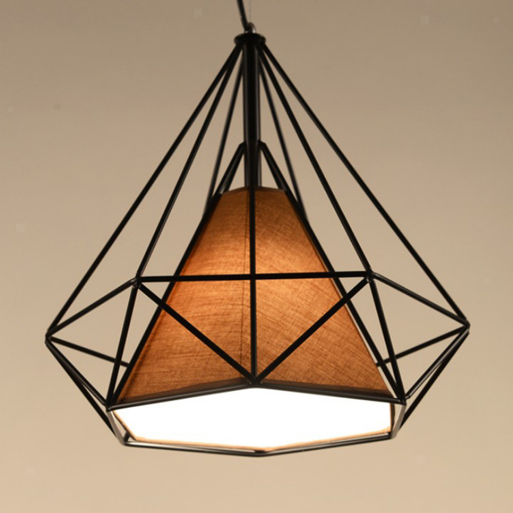 Modern-Geometric-Diamond-Caged-Ceiling-Pendant-Light-Shade-Easy-Fit-Lampshade thumbnail 25