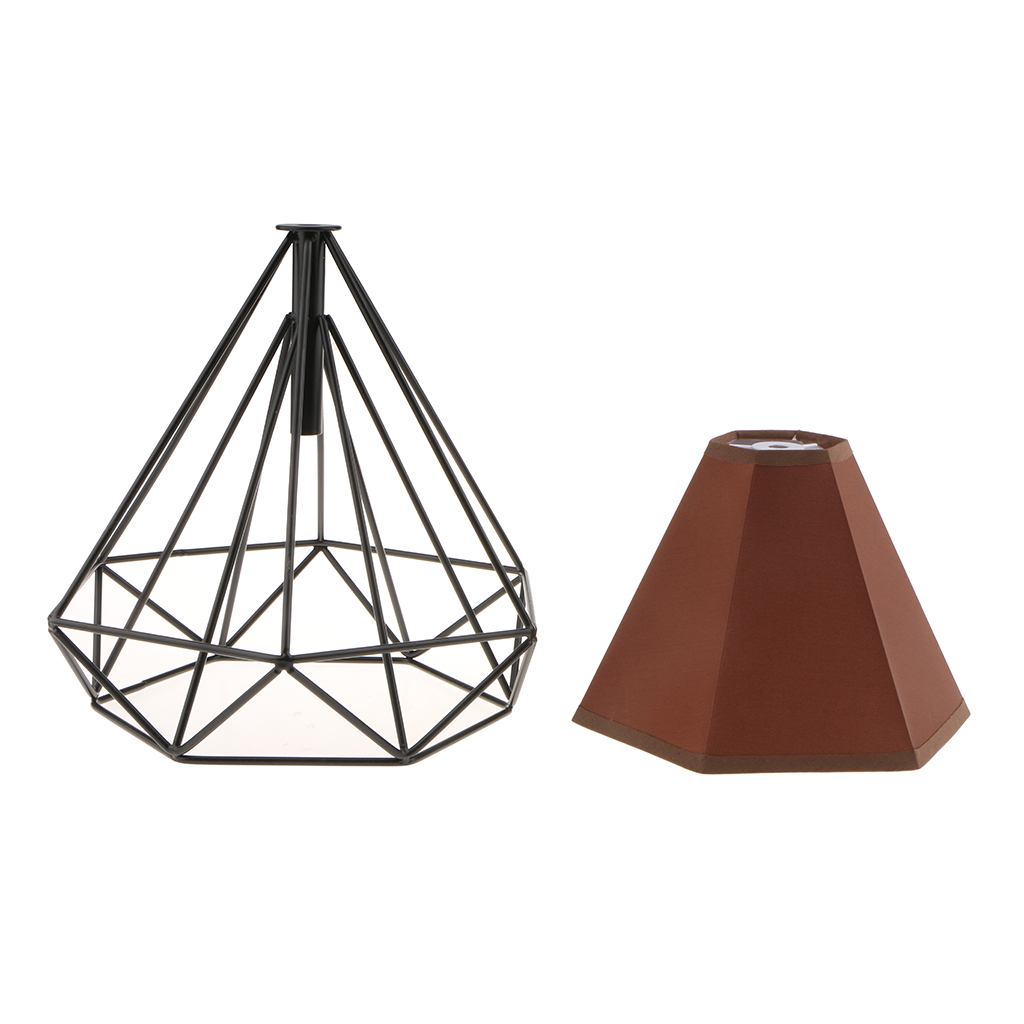 Modern-Geometric-Diamond-Caged-Ceiling-Pendant-Light-Shade-Easy-Fit-Lampshade thumbnail 28