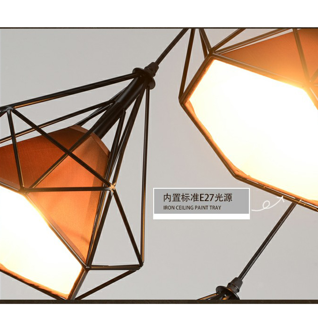Modern-Geometric-Diamond-Caged-Ceiling-Pendant-Light-Shade-Easy-Fit-Lampshade thumbnail 29