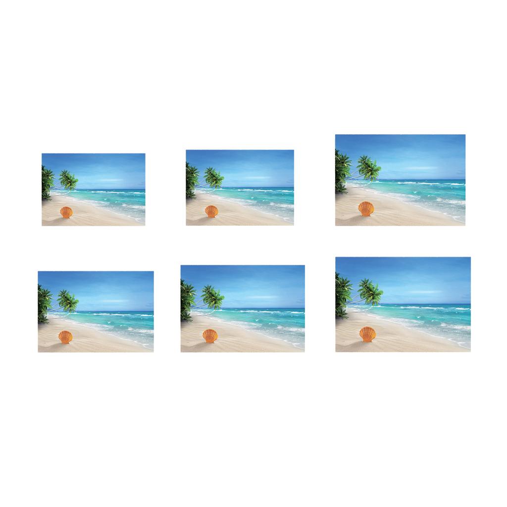 Immagine-3D-Acquario-Sfondo-Poster-Carro-Armato-Di-Pesce-Adesivo miniatura 4