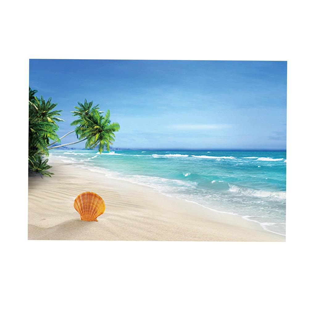 Immagine-3D-Acquario-Sfondo-Poster-Carro-Armato-Di-Pesce-Adesivo miniatura 3