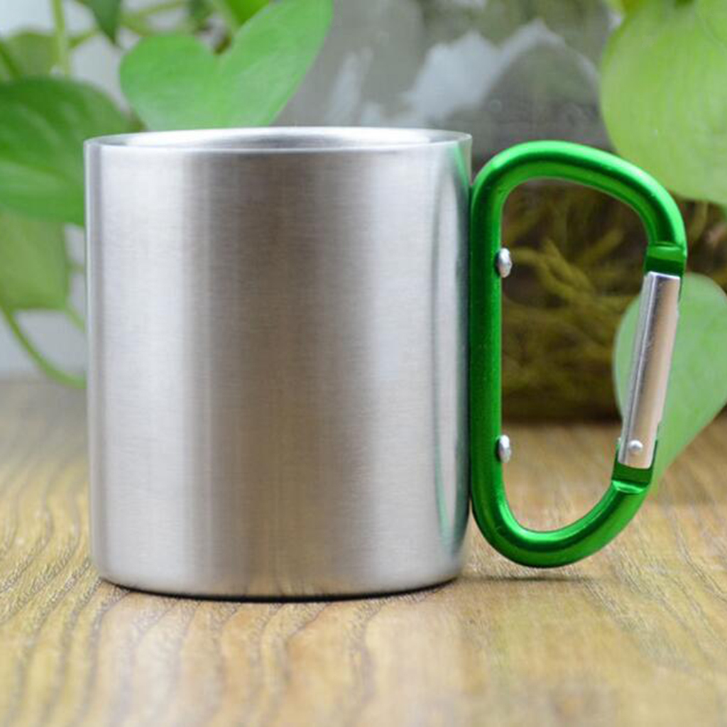 miniatura 8 - 3pz Tazze in Lega di Alluminio da Moschettone Campanellino da Viaggio per