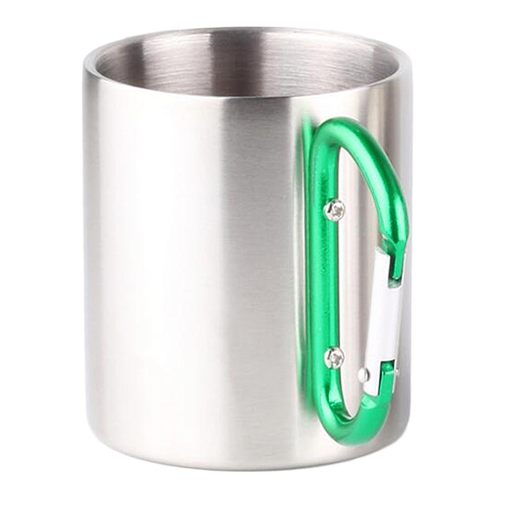 miniatura 9 - 3pz Tazze in Lega di Alluminio da Moschettone Campanellino da Viaggio per