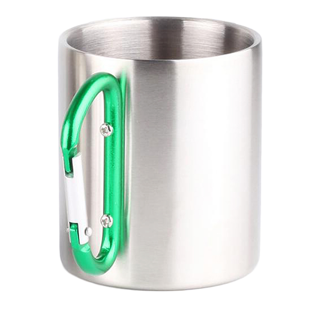 miniatura 10 - 3pz Tazze in Lega di Alluminio da Moschettone Campanellino da Viaggio per