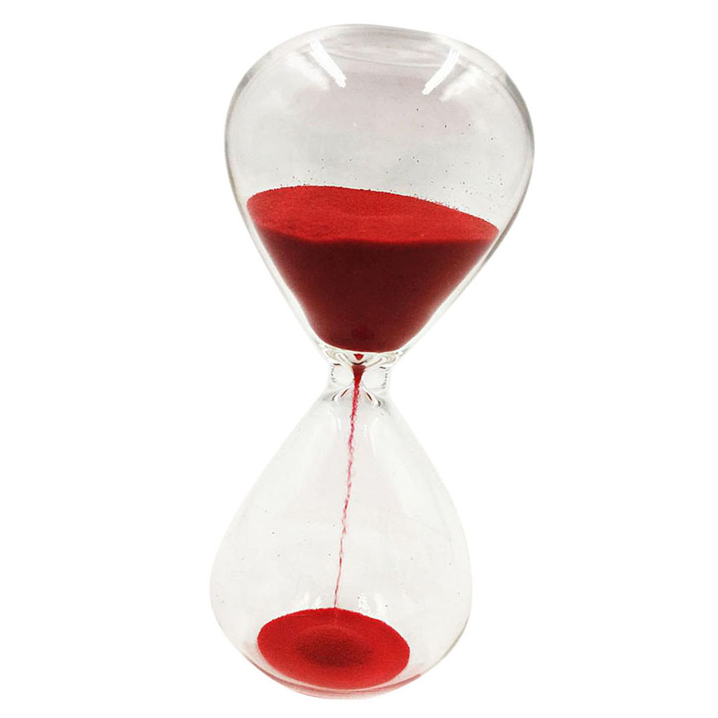 1 Minute Wooden Purple Sand Egg Timer Decorative Hourglass Kitchen Cooking