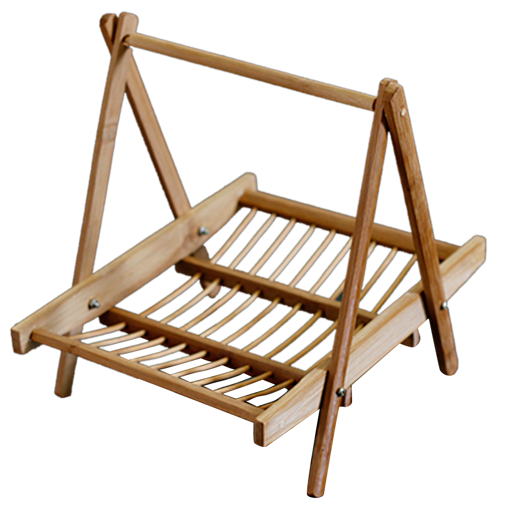 Bamboo Folding Basket Handmade Craft Food Drying Rack For Restaurant Hotel