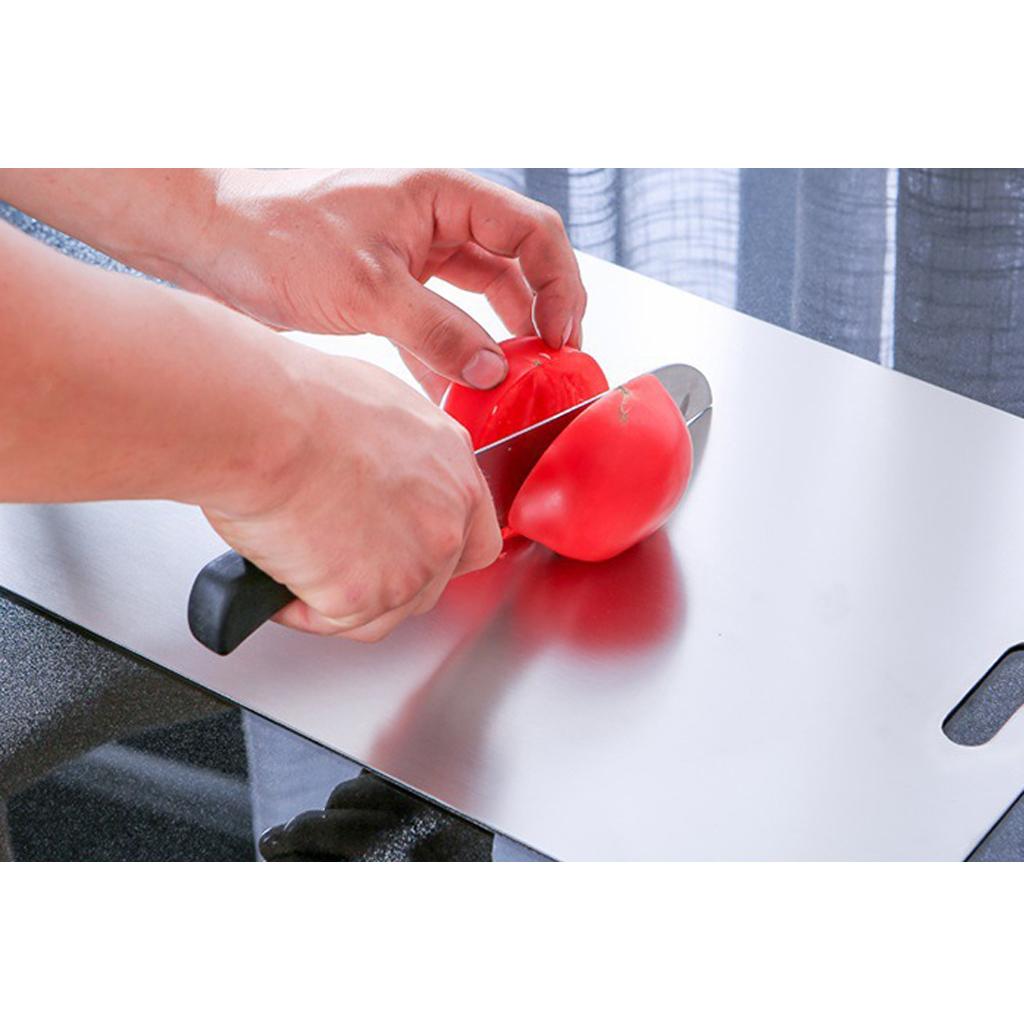 miniatura 5 - Tagliere da Cucina, Tagliere In Acciaio Inossidabile Antimicrobico