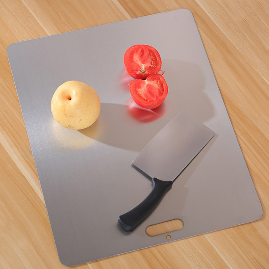 miniatura 3 - Tagliere da Cucina, Tagliere In Acciaio Inossidabile Antimicrobico