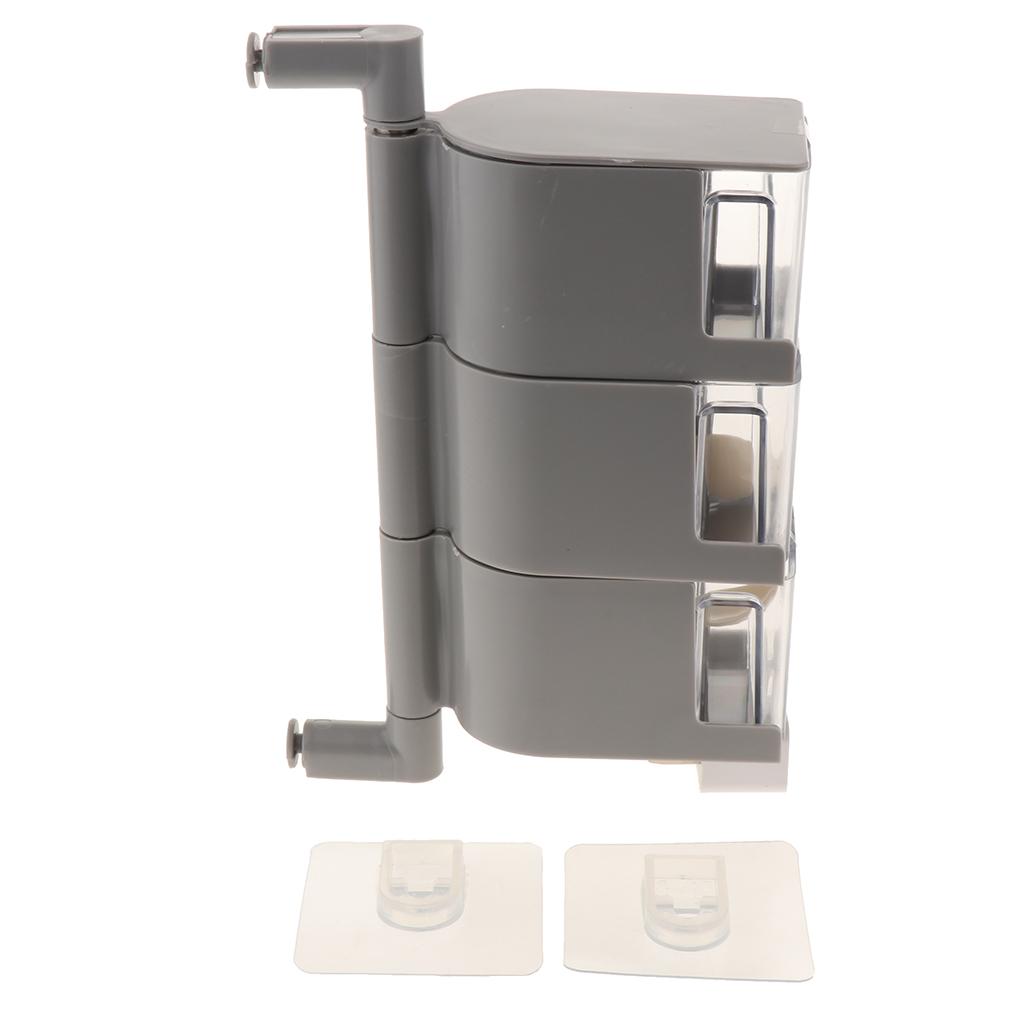 Rotatable-Self-Adhesive-Spice-Cruets-Rack-Seasoning-Container-Wall-Mounted thumbnail 7
