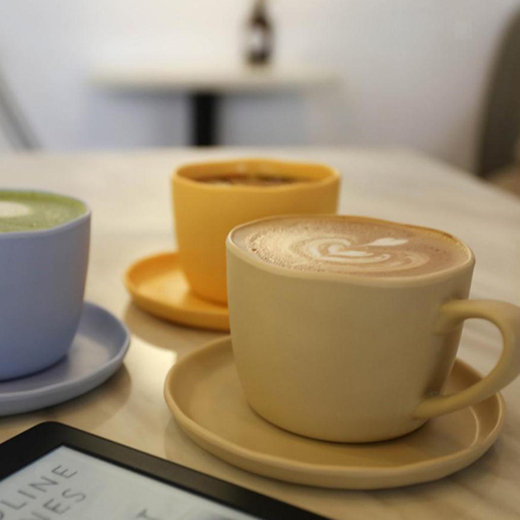 Dinnerware-Set-of-3-Service-Cup-Coffee-Mug-Salad-Bowl-with-Saucer-Plate thumbnail 9