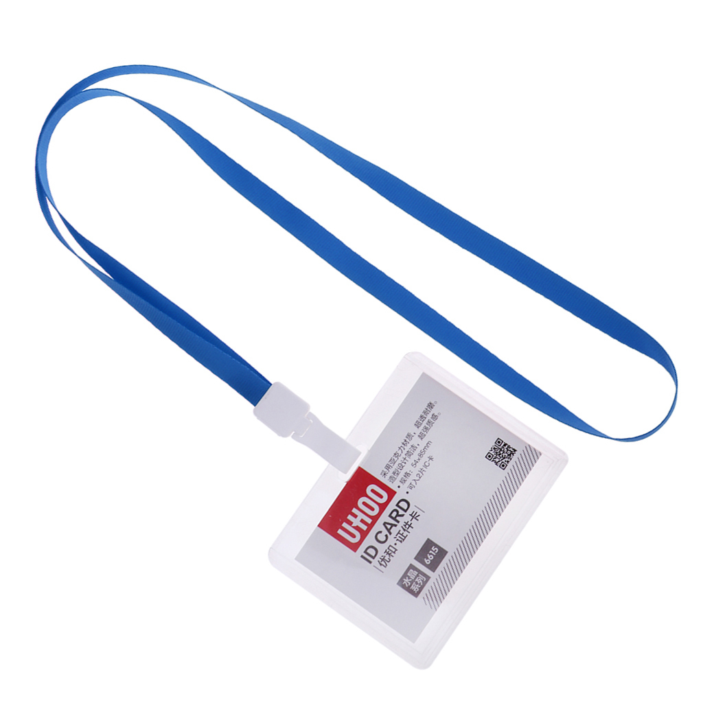 Lanyard-Neck-Strap-ID-Pass-Card-Badge-Holder-for-School-Students-Company thumbnail 16