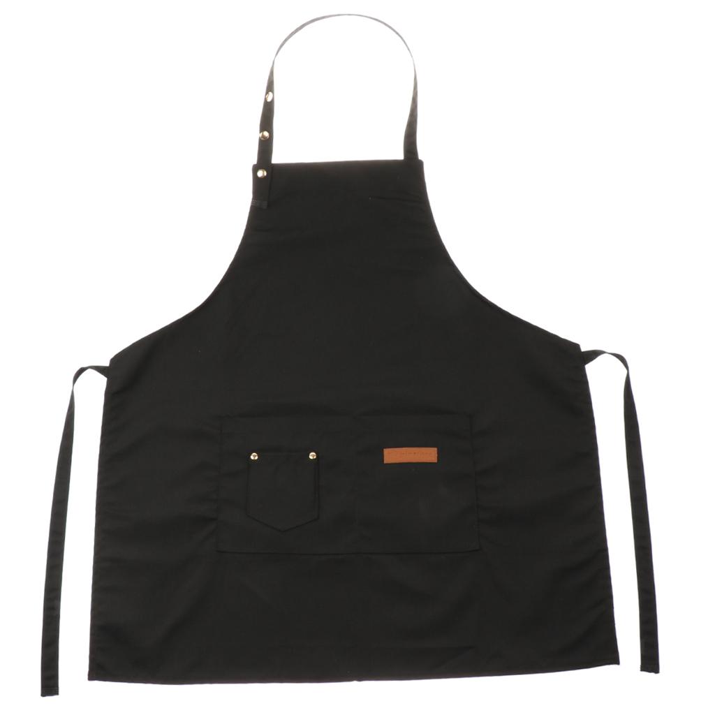Adjustable-Bib-Apron-Dress-Kitchen-Restaurant-Chef-Classic-Cooking-Uniform thumbnail 9