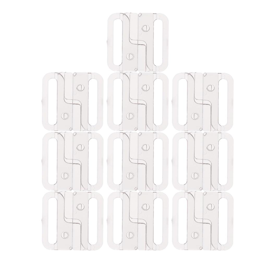 10-Ensembles-Bikini-Crochets-Clip-de-Soutien-gorge-Bikini-Accessoires-33mm miniature 14