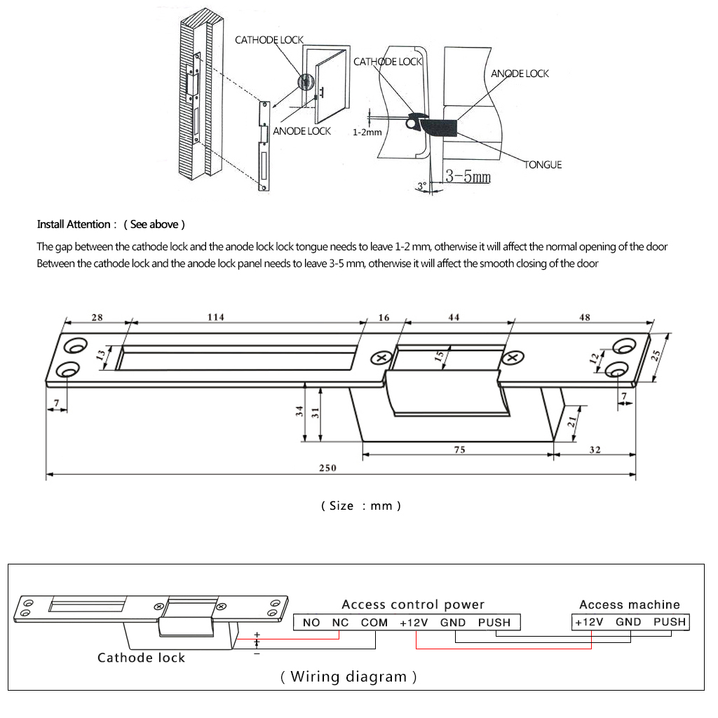 Electric Strike Lock Wiring Diagram  Electric Strike Cover