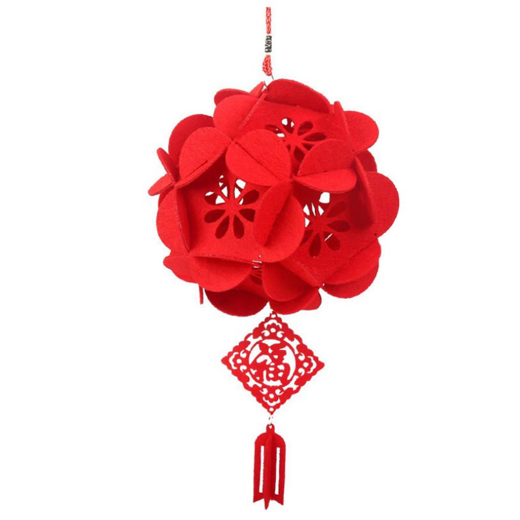 miniatura 8 - Lanterne floreali rosse fai-da-te Kit non tessuti artigianali Artigianato