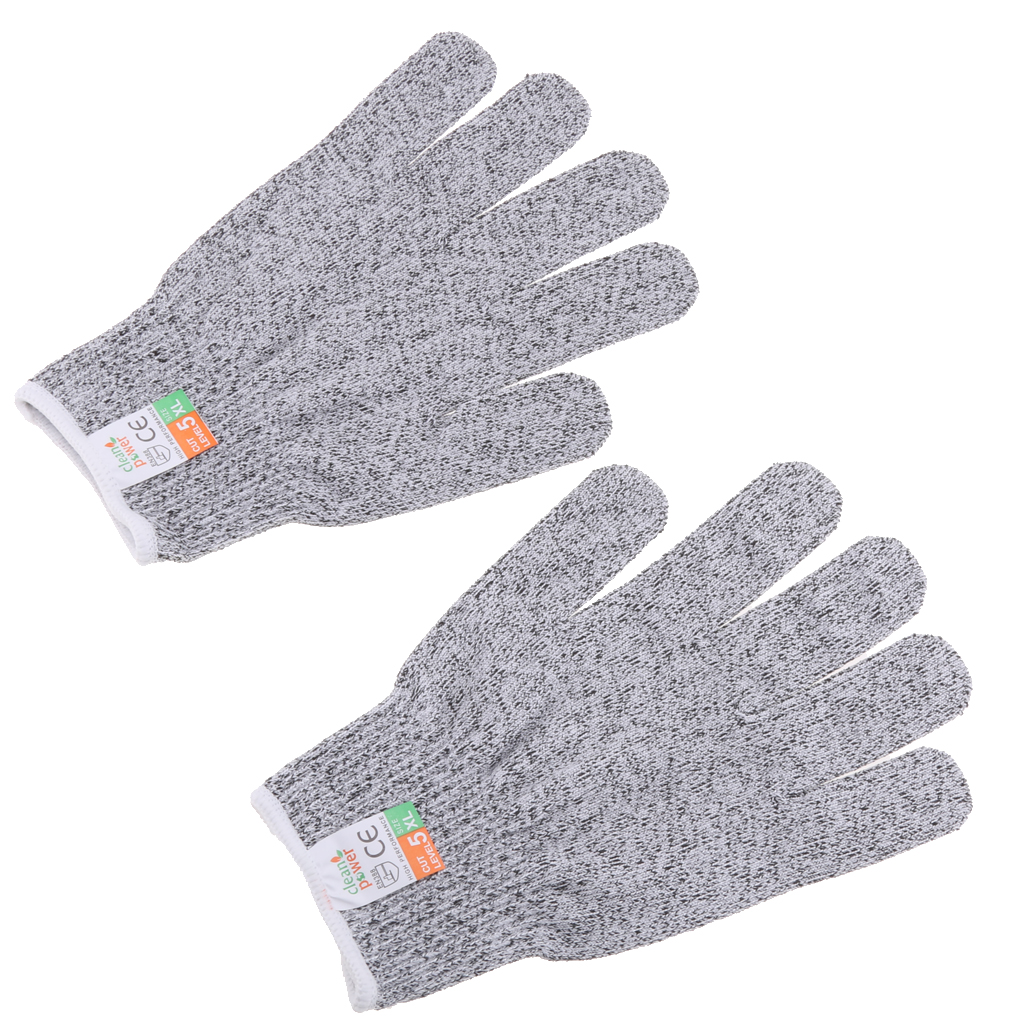 1 Pair Cut Resistant Gloves Level 5 Safty Gloves for Kitchen Yard Working XL