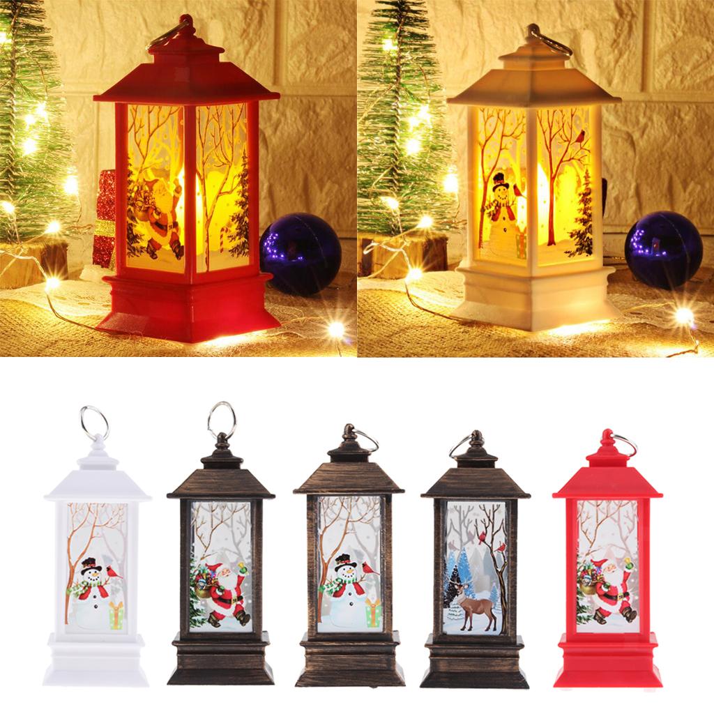 thumbnail 4 - Christmas LED Candle Lantern Xmas Lamp Decor DIY Home Party Gift Decoration