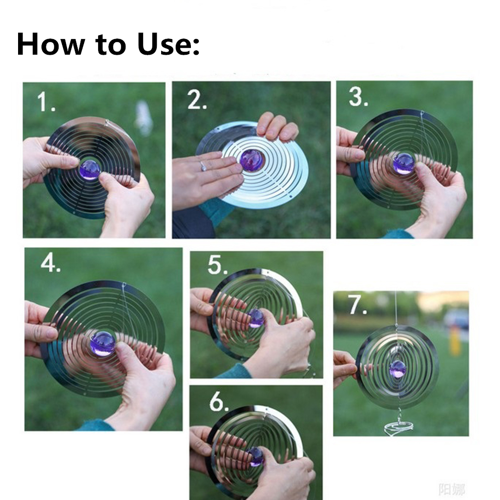 2 x Wind Spinner Crystal Gazing Ball Spiral Cyclone Swivel Hanger Purple