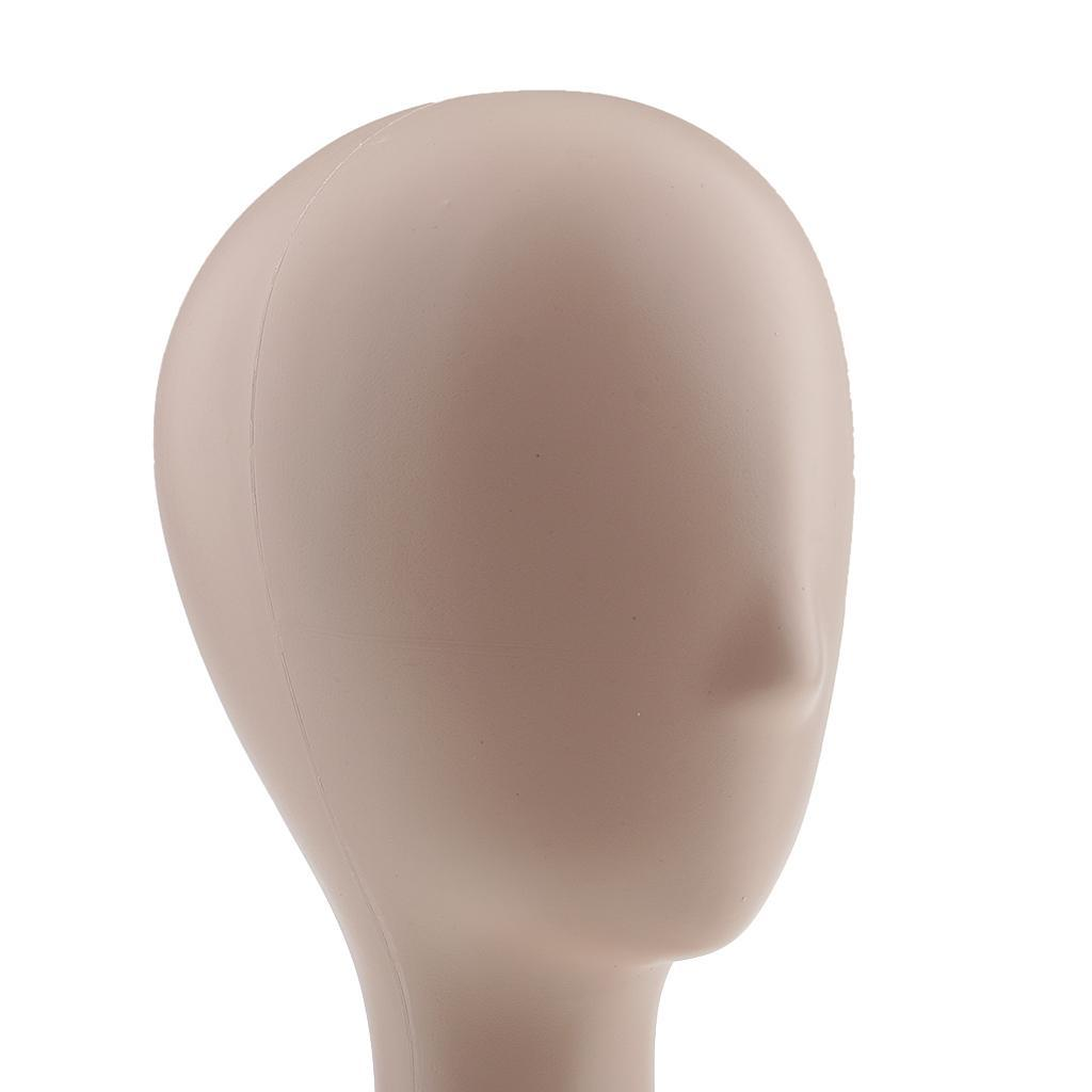 Mannequin-Manikin-Head-Model-Wig-Glasses-Hat-Display-Stand-White-Black-Beige thumbnail 6