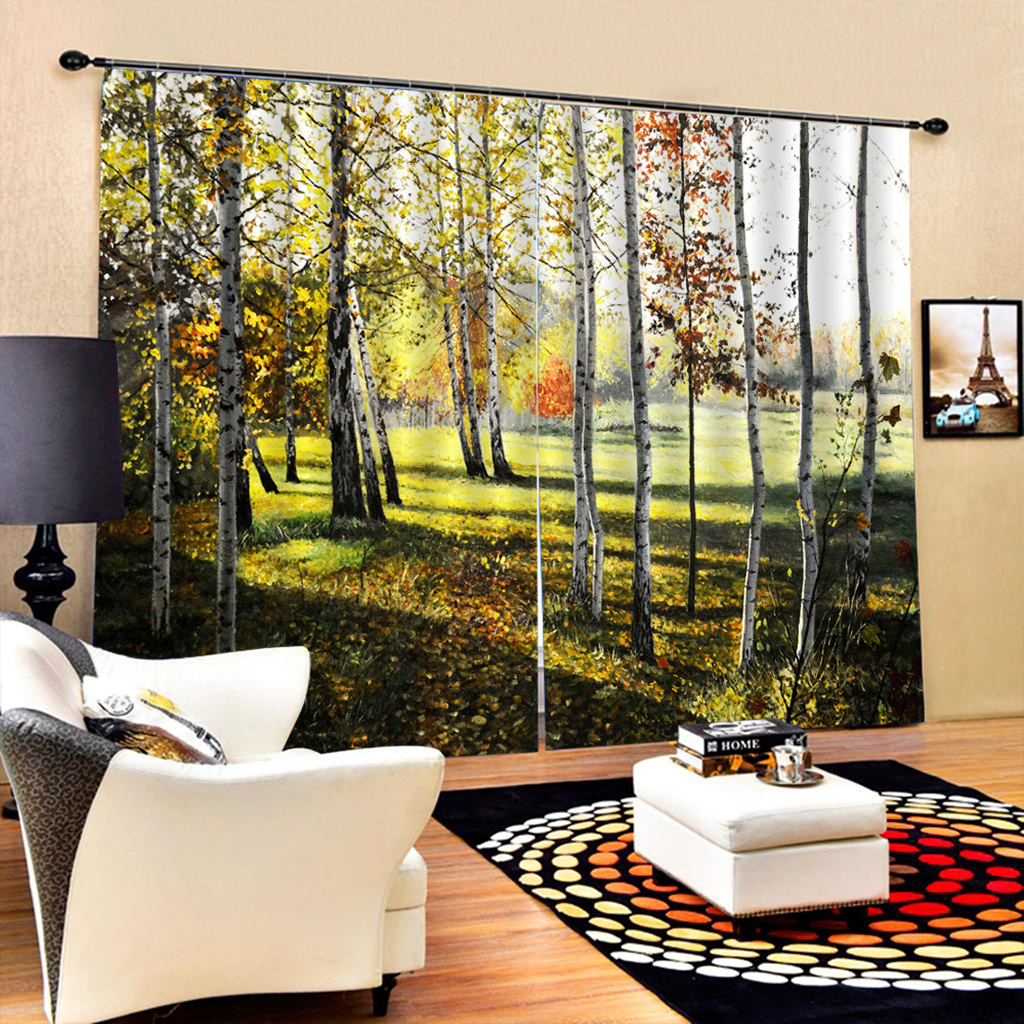 3d Digital Scenic Thermal Insulated Blackout Panels Blinds