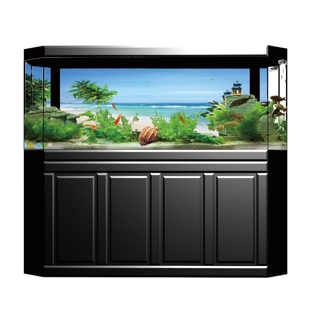 Immagine-3D-Acquario-Sfondo-Poster-Carro-Armato-Di-Pesce-Adesivo miniatura 8