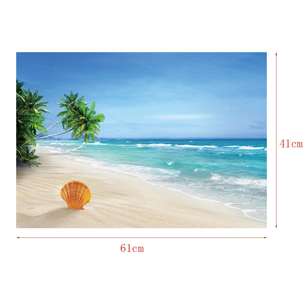 Immagine-3D-Acquario-Sfondo-Poster-Carro-Armato-Di-Pesce-Adesivo miniatura 9
