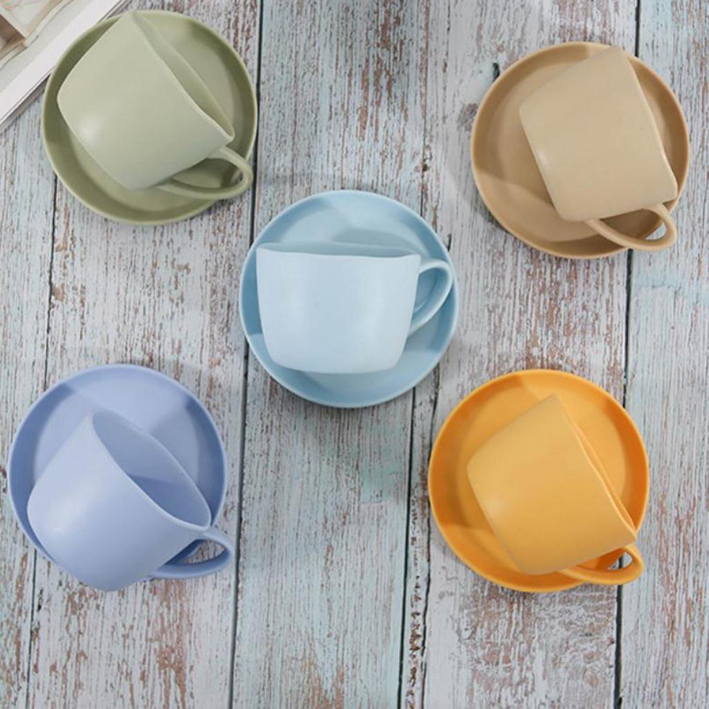Dinnerware-Set-of-3-Service-Cup-Coffee-Mug-Salad-Bowl-with-Saucer-Plate thumbnail 13