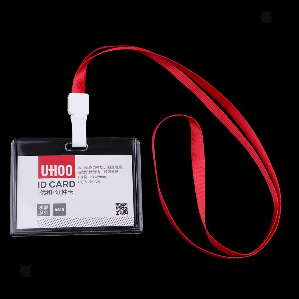 Lanyard-Neck-Strap-ID-Pass-Card-Badge-Holder-for-School-Students-Company thumbnail 18