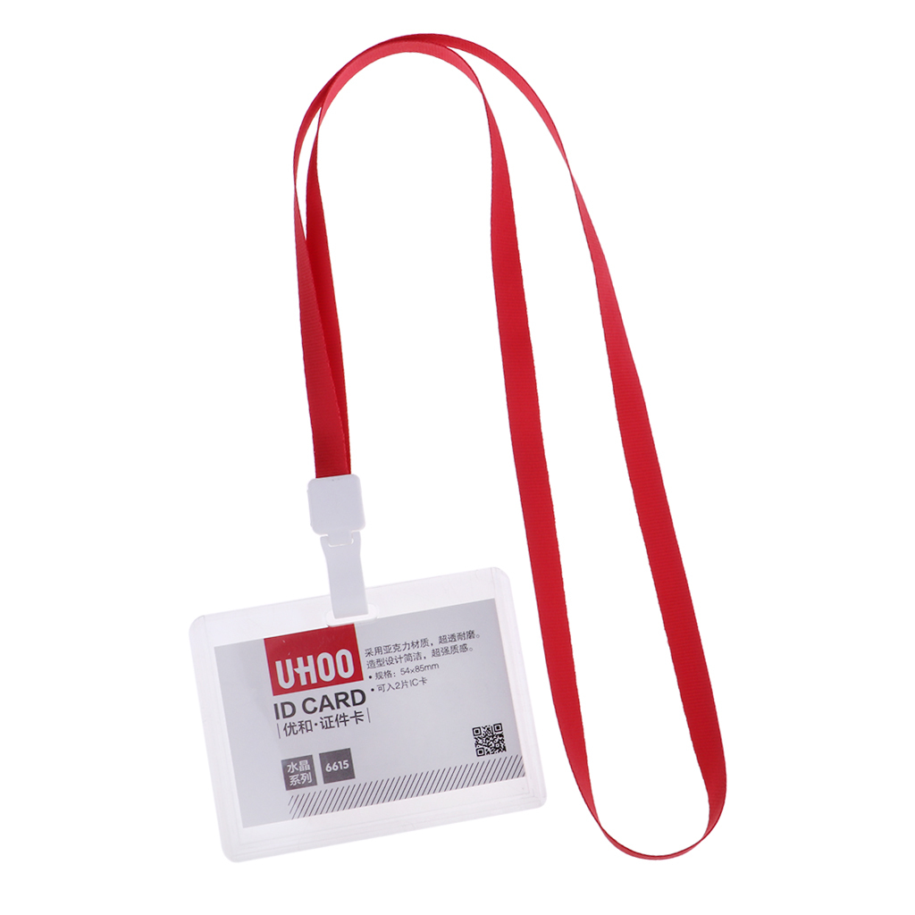 Lanyard-Neck-Strap-ID-Pass-Card-Badge-Holder-for-School-Students-Company thumbnail 19